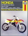 Honda CR80 CR125 CR250 CR500 Haynes manual 86-2001